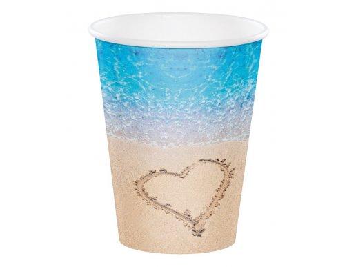 Beach Love Paper Cups (8pcs)