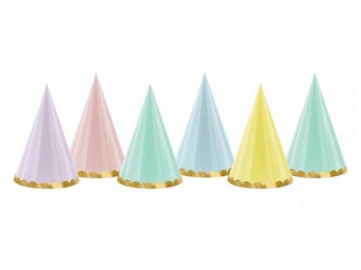 Καπελάκια Για Πάρτυ σε Παστέλ Χρώματα (6τμχ)