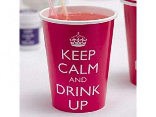 Keep Calm Χάρτινα Ποτήρια (8τμχ)