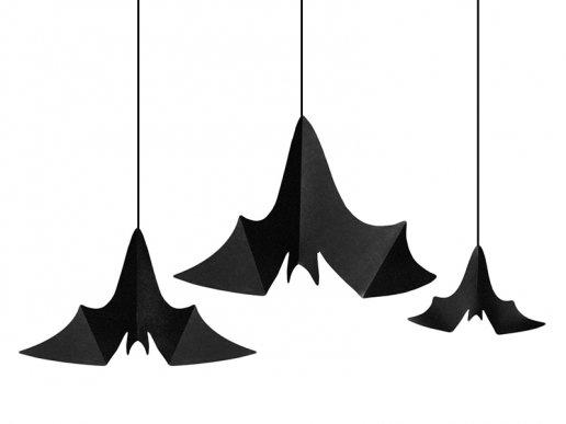 Κρεμαστές Διακοσμητικές Νυχτερίδες (3τμχ)