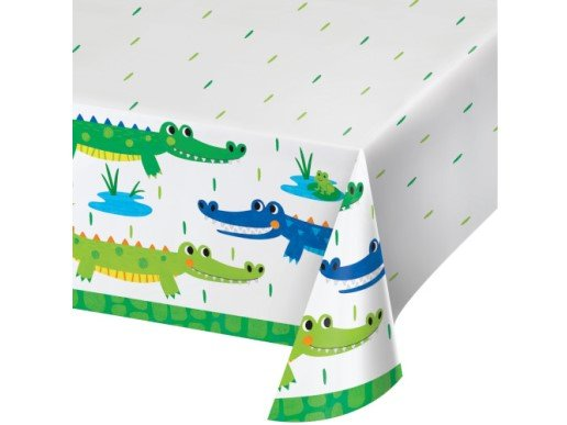 Alligator Party Paper Tablecover (137cm x 259cm)