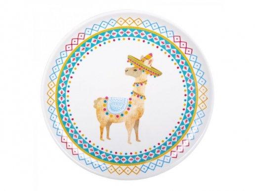 Llama Large Round Plastic Tray (34,5cm)