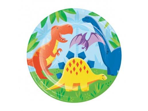 Μεγάλα Χάρτινα Πιάτα Φίλοι Δεινόσαυροι (8τμχ)