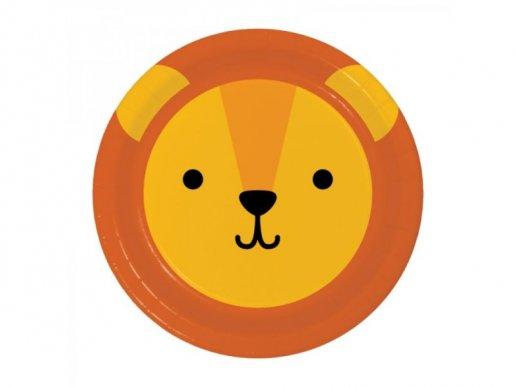 Λιοντάρι Μικρά Χάρτινα Πιάτα 8/τμχ