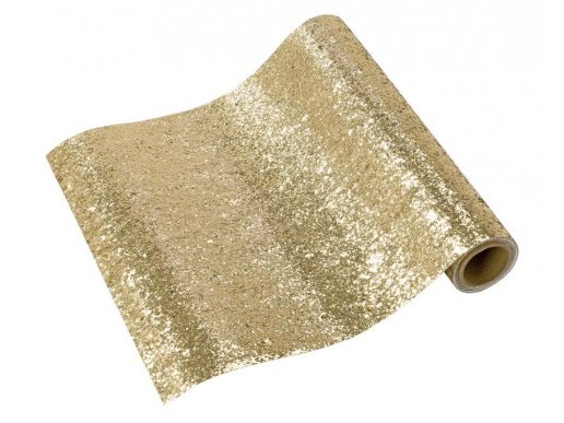 Luxe Gold Glitter Runner For Table Decoration (30cm x 180cm)