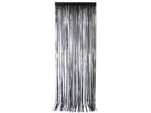 Μαύρη Διακοσμητική Κουρτίνα (92εκ x 245εκ)