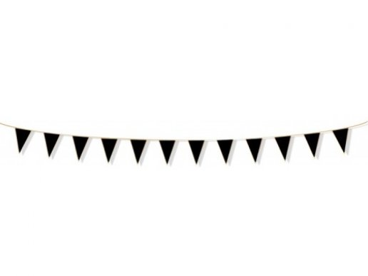 Black Flag Bunting with Gold Details (3m)