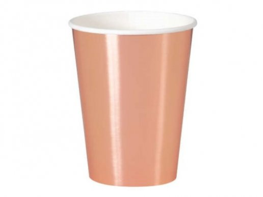 Large Paper Cups in Rose Gold Metallic Color (8pcs)