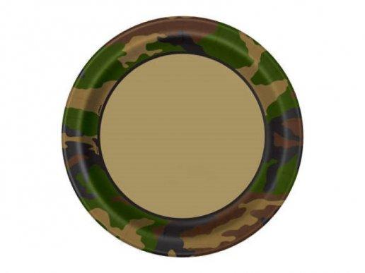 Military Large Paper Plates (8pcs)
