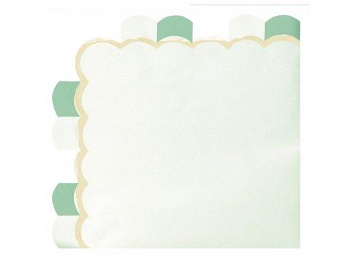 Mint Green Pattern Luncheon Napkins (16pcs)