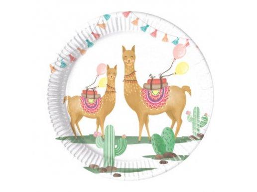 Llama Small Paper Plates (8pcs)