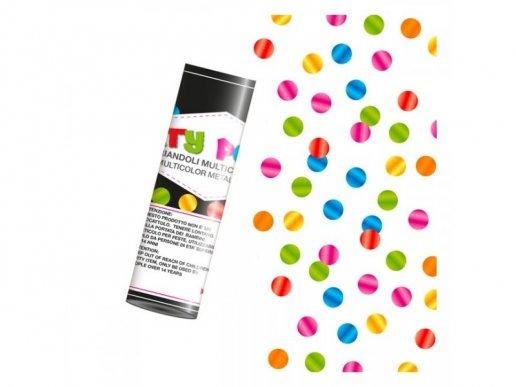 Mini Party Cannon with Multicolor Confetti 10cm