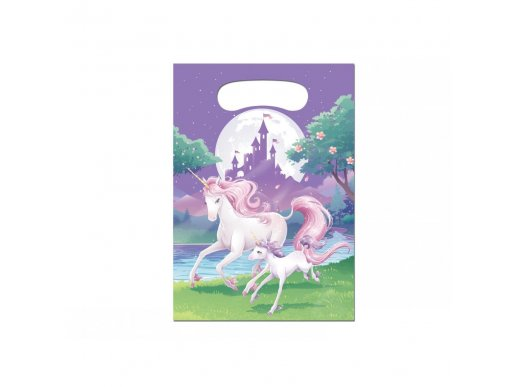 Unicorn Plastic Loot Bags 8/pcs