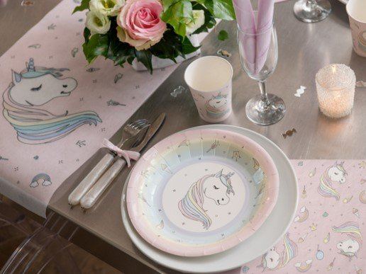 Unicorn Pink Large Paper Plates (10pcs)