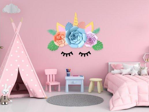 Unicorn Paper Wall Set Decoration