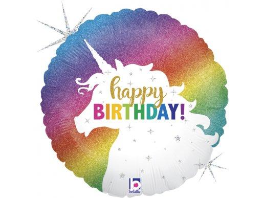 Μονόκερος Πολύχρωμος Foil Μπαλόνι Για Γενέθλια