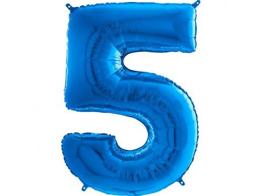 Supershape Μπαλόνι Αριθμός-Νούμερο 5 Μπλε (100εκ)