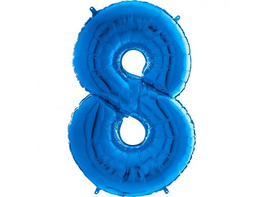 Supershape Balloon Number 8 Blue (100cm)
