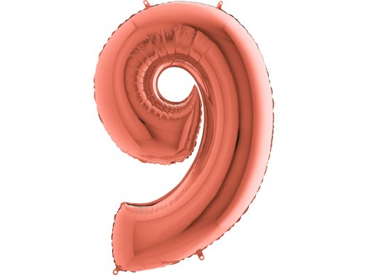 Supershape Balloon Number 9 Rose Gold (100cm)