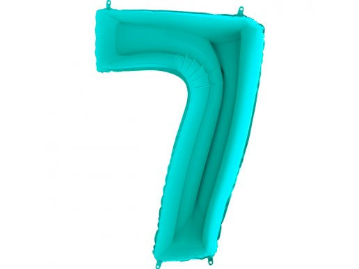 Supershape Balloon Number 7 Mint Green (100cm)