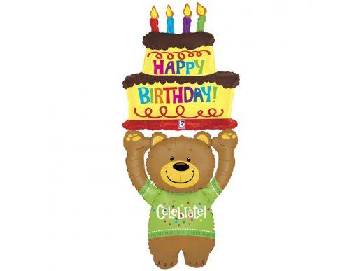 Αρκούδος Για Γενέθλια Happy Birthday Μπαλόνι Airwalker