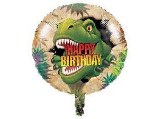 Dinosaures Balloon Foil Happy Birthday