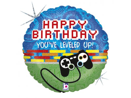 Gaming Party - Game On Happy Birthday Balloon Foil