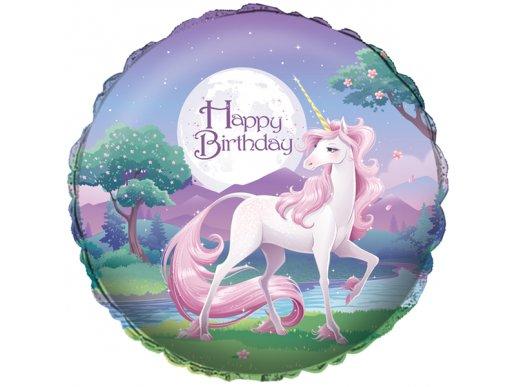 Foil Balloon Happy Birthday Unicorn