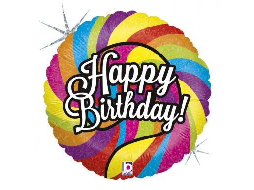Πολύχρωμο Lollipop Happy Birthday Για Γενέθλια Μπαλόνι Foil