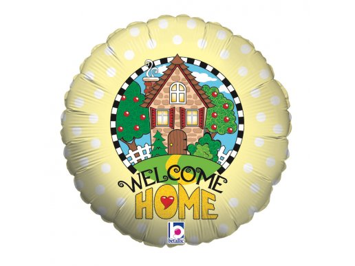 Welcome Home Yellow Balloon Foil