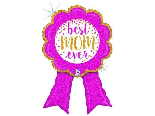 Best Mom Ever - Καλύτερη Μαμά Με Ολογραφικό Σχέδιο Supershape Μπαλόνι Κονκάρδα