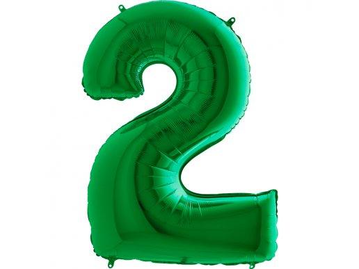 Green Supershape Balloon Number 2 (100cm)