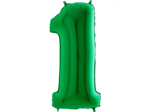 Green Supershape Balloon Number 1 (100cm)
