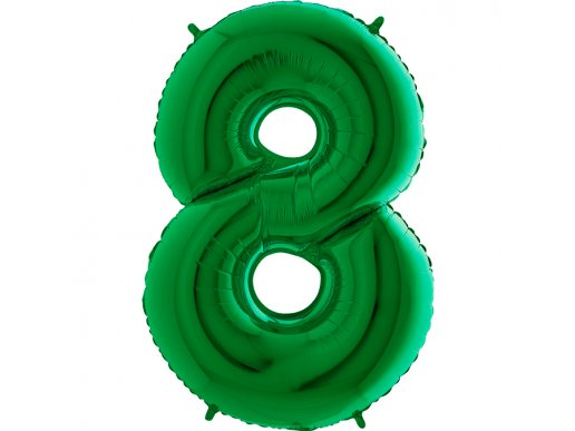 Green Supershape Balloon Number 8 (100cm)