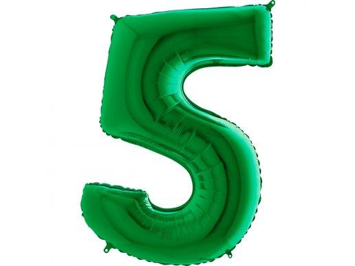 Πράσινο Μπαλόνι Supershape Αριθμός-Νούμερο 5 (100εκ)
