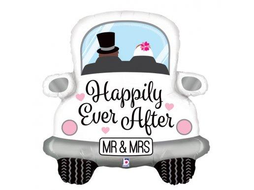 Μπαλόνι Supershape Αυτοκίνητο Mr And Mrs Happily Ever After (79εκ)