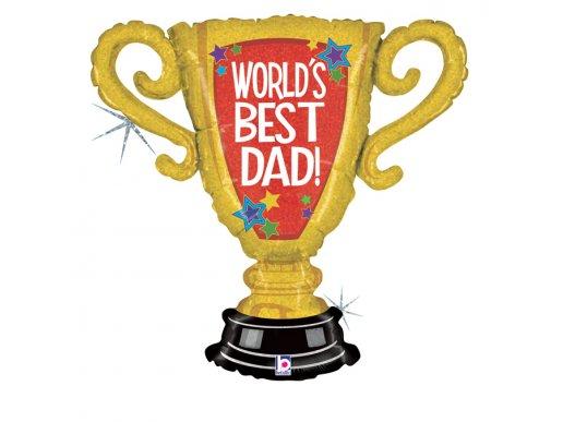 Cup Champion World's Best Dad Supershape Balloon