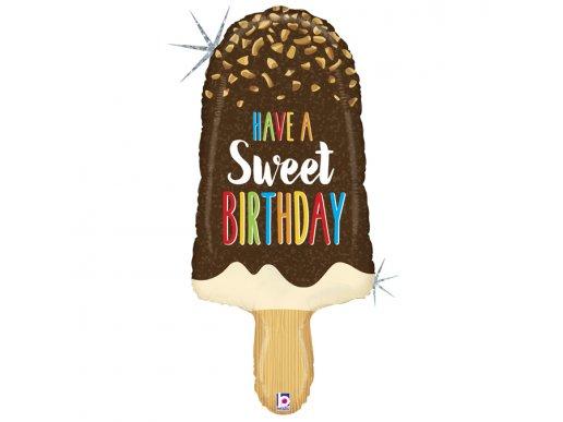 Ice Cream Have A Sweet Birthday Με Ολογραφικό Τύπωμα Supershape Μπαλόνι