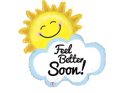 Feel Better Soon - Περαστικά Μπαλόνι Supershape Ήλιος Με Συννεφάκι