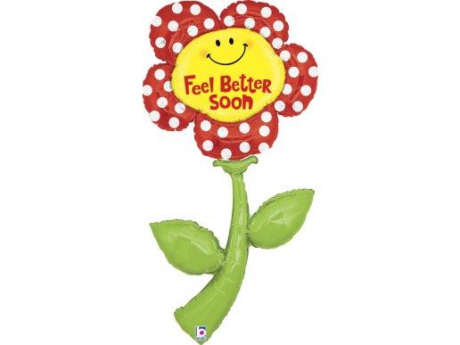 Feel Better Soon Flower Balloon Supershape