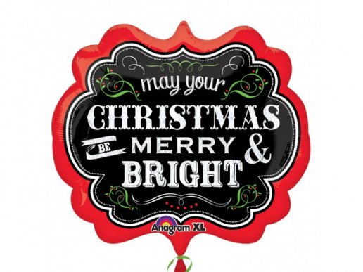 May Your Christmas Be Merry And Bright Supershape Balloon