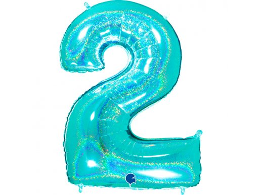 Mint Holographic Supershape Balloon Number 2 (100cm)