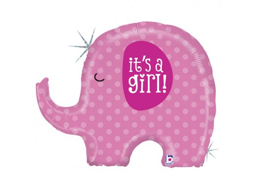 Little Peanut Pink It's a Girl Holographic Design Balloon Supershape