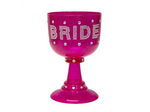 Μεγάλο Φούξια Ποτήρι Bride To Be