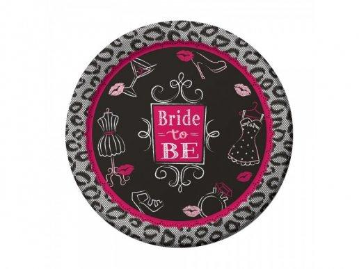 Bride to Be Μεγάλα Χάρτινα Πιάτα με Animal Print (8τμχ)