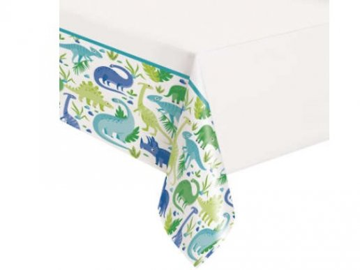 Blue and Green Dinosaurs Tablecover (137cm x 213cm)