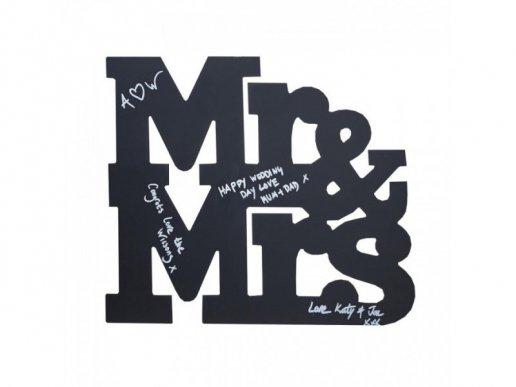 Chalkboard Mr and Mrs