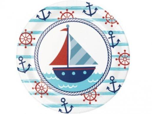 Ναυτικό Αγόρι Μικρά Χάρτινα Πιάτα (8τμχ)