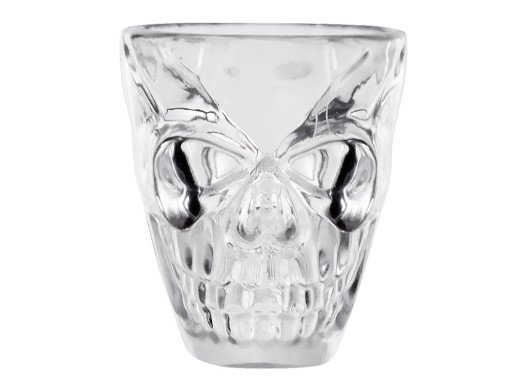Skulls Clear Plastic Shot Glasses (4pcs)