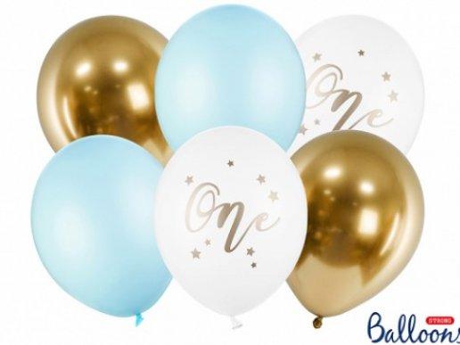 Νούμερο 1 Αγόρι Λάτεξ Μπαλόνια (6τμχ)